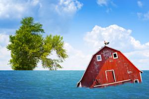 Flood on American Countryside