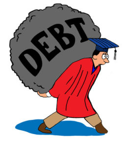 college student debt load.