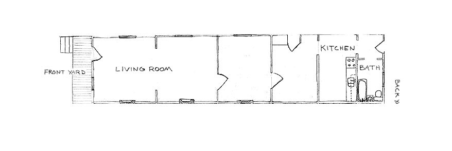 The unique history of the shotgun house welcome to horse for Shotgun home floor plans