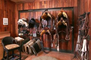 Backyard Shed turned Tack Room